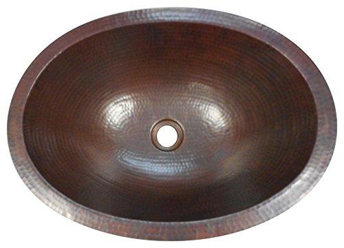 """16"""" Rusty Oval Dual Mount Copper Sink"""