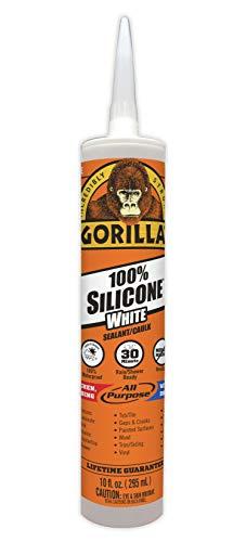 Gorilla Water-resistant White 100 Percent Silicone Sealant Caulk