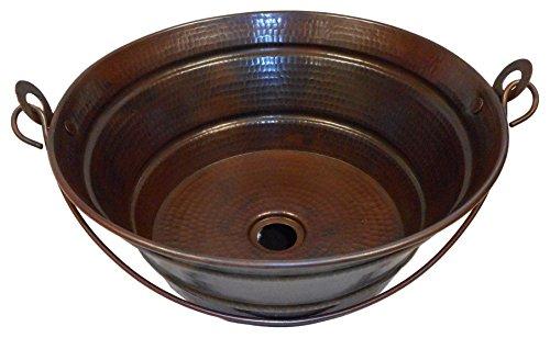 """Simply Copper 15"""" Bucket Vessel Sink"""