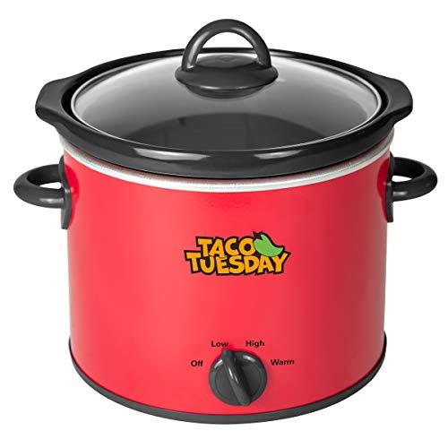 Nostalgia Taco Tuesday 4-Quart Fiesta Slow Cooker