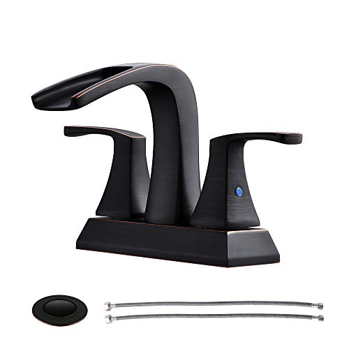 PARLOS Waterfall Spout Dual handles Faucets for Hard Water